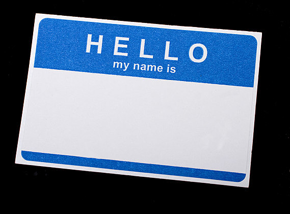 Isolated Name Tag